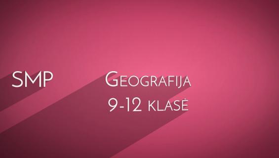 SMP geografijai pristatymas