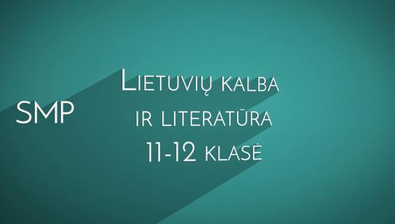 SMP lietuvių kalbai 11–12 pristatymas