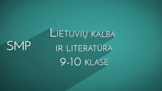 SMP lietuvių kalbai 9–10 pristatymas
